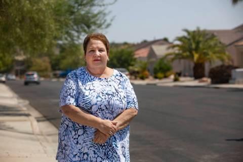 Anne Grisham in her neighborhood Woodland Hills in Henderson, Tuesday, Sept. 1, 2020. Grisham i ...