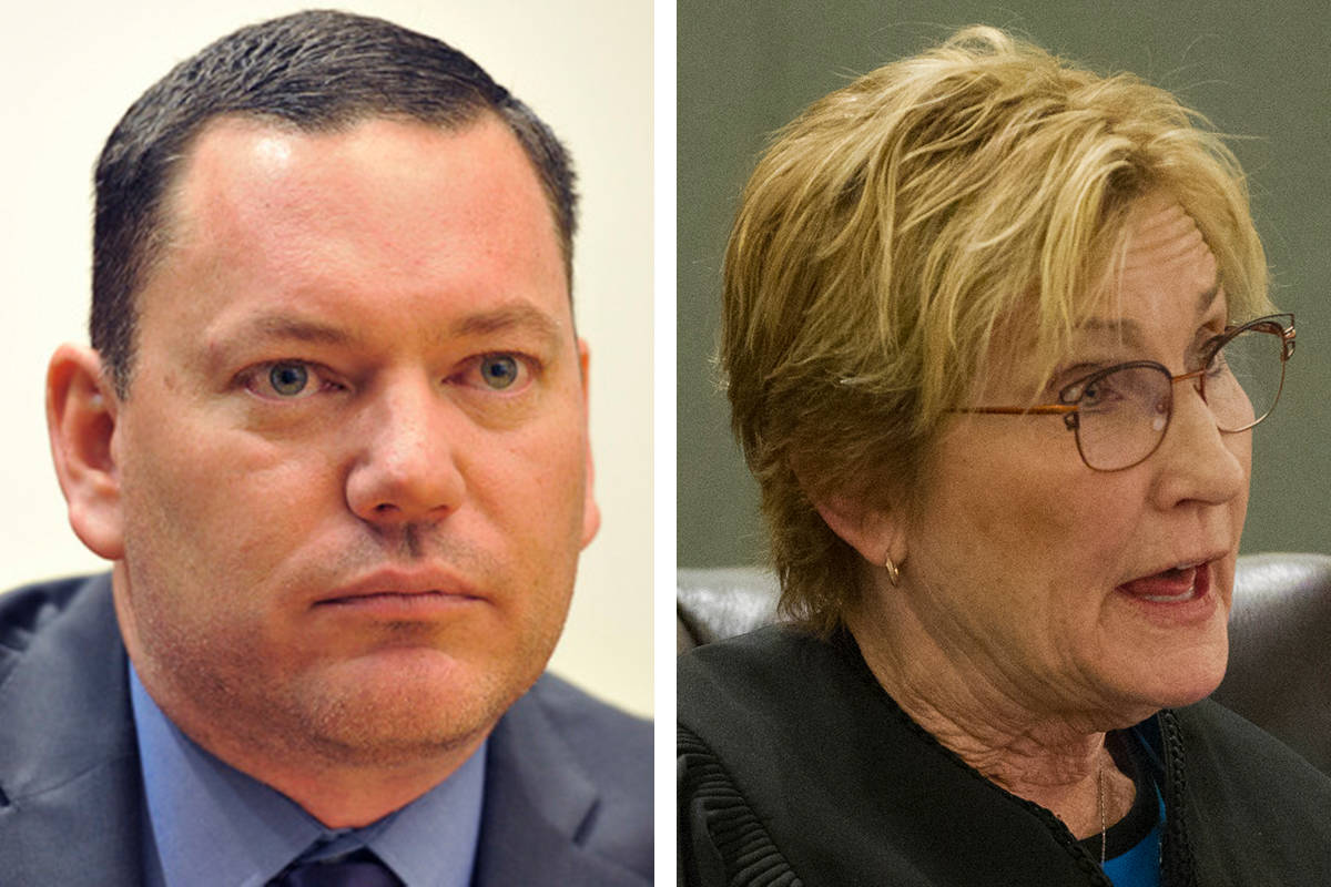 Family Court Judge William Potter, left, and District Judge Kerry Earley are facing charges fro ...