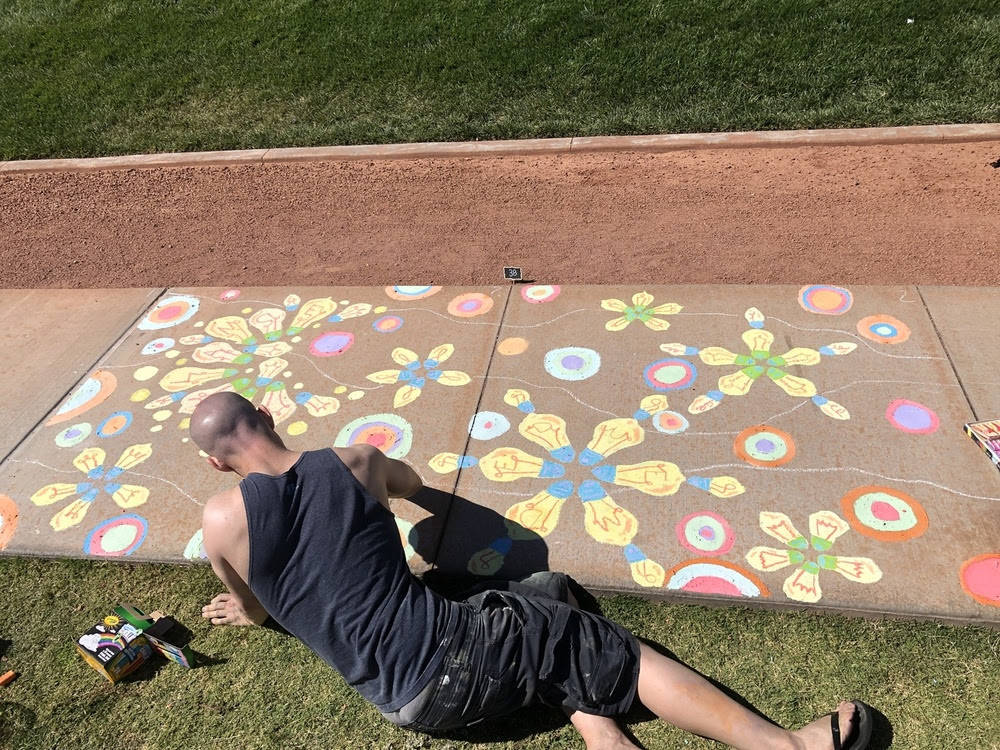 This year's Chalk + Cheers, The Walking Tour Edition, will be held at Skye Canyon Park, 10115 W ...