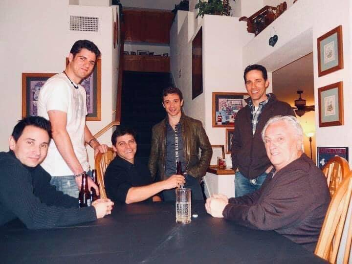 "Four Seasons legend Tommy DeVito, far right, is shown in 2010 with ""Jersey Boys"" cast membe ..."