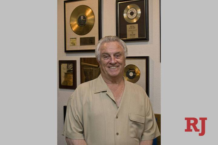 Former Four Seasons member Tommy Devito poses in his home in Las Vegas, Friday, May 29, 2009.