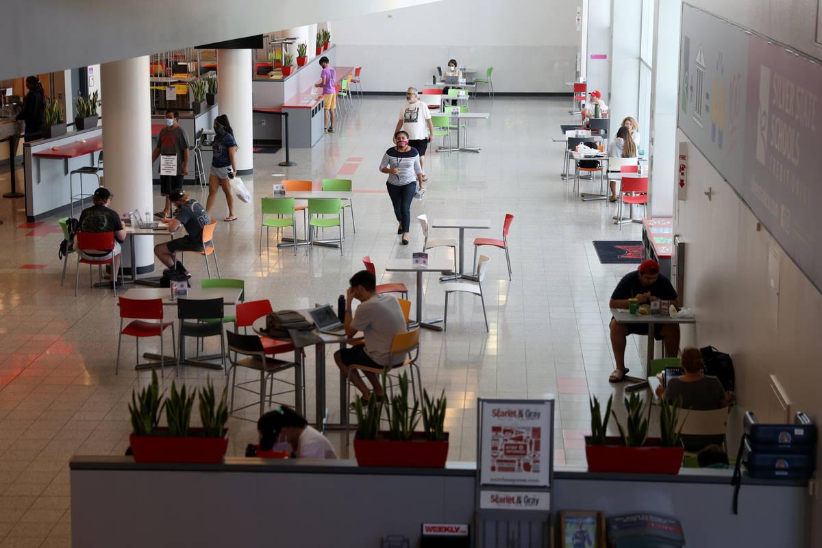 The Student Union food court at UNLV in Las Vegas, Friday, Sept. 4, 2020. (Erik Verduzco / Las ...