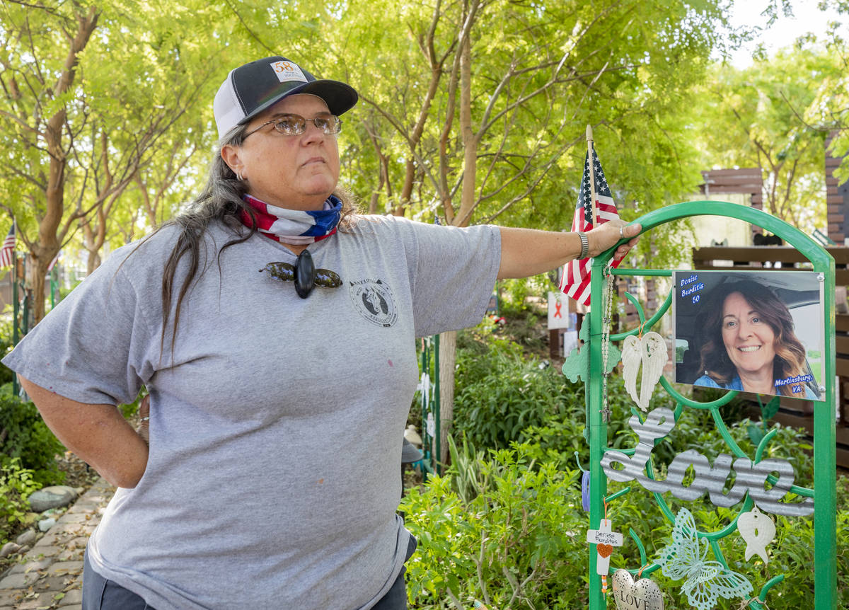 Standing in the Healing Garden, Sue Ann Cornwell talks about trying to escort victim Denise Bur ...