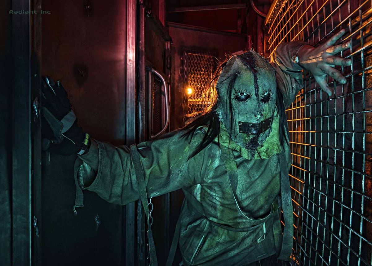 North Las Vegas resident Adrian Aguirre at a haunted houses at Fright Dome in Las Vegas. (Las V ...