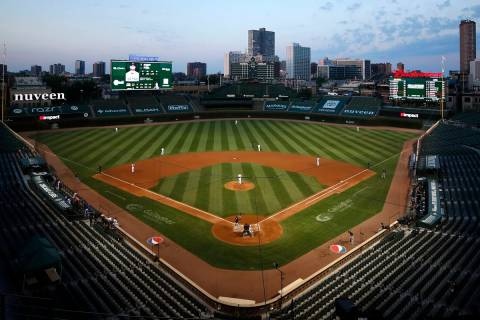 Wrigley Field seen during a game between the Milwaukee Brewers and the Chicago Cubs Friday, Aug ...