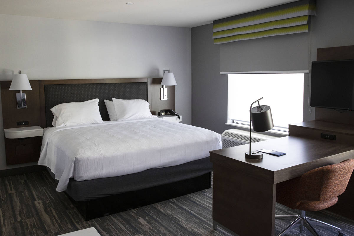 A suit at a newly built Hampton Inn and Suites, located near the Las Vegas Convention Center, o ...