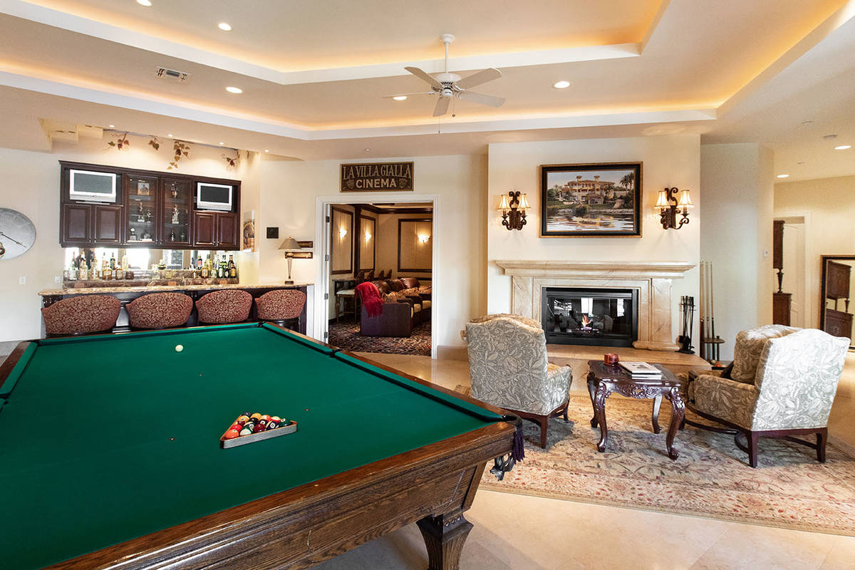 The game room. (Elite Homes)