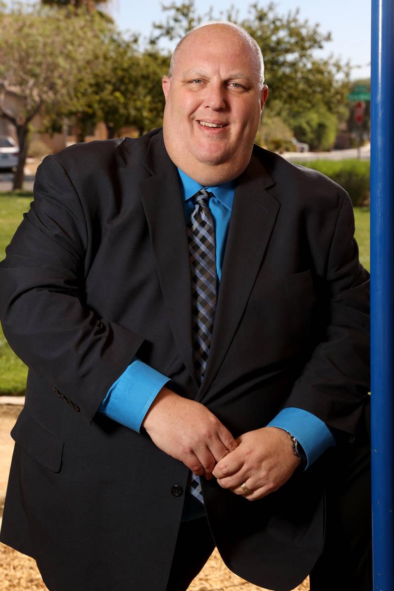 Clark County Commission District B candidate Warren Markowitz at Raven Horse Park in Las Vegas ...