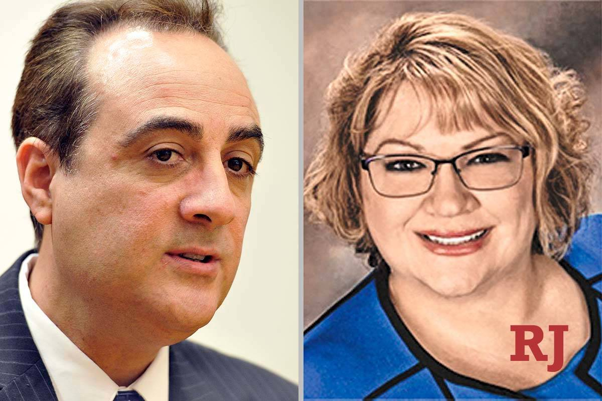 Bill Gonzalez and Dawn Throne, candidates for Family Court Dept. U (Las Vegas Review-Journ ...