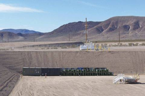 A landfill cell in Area 5 at the Nevada National Security Site, 65 miles northwest of Las Vegas ...