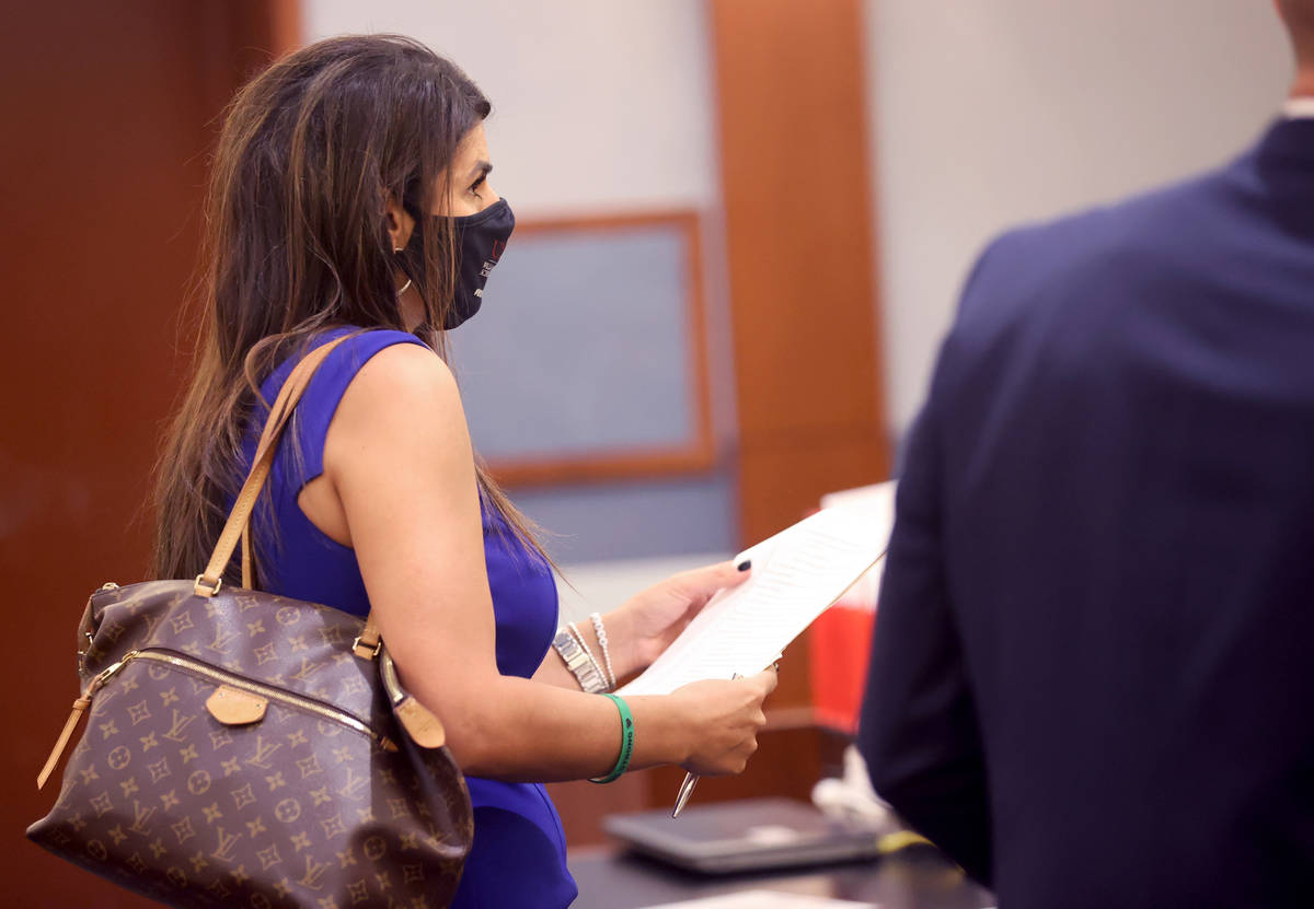 Paola Armeni, attorney for former Las Vegas Convention and Visitors Authority Chief Marketing O ...