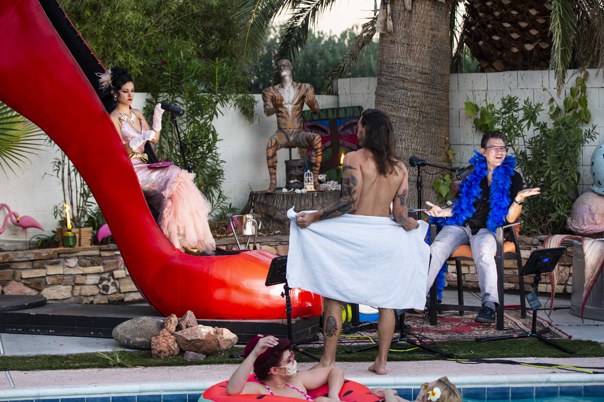 """The pool side scene is shown during the PodKats! """"End of Summer bash"""" with Melody Sweets and Jo ..."""
