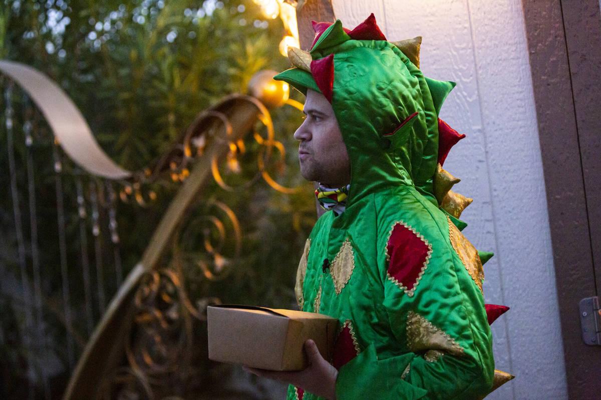 "John Van Der Put, aka Piff The Magic Dragon, is shown during the PodKats! ""End of Summer bash"" ..."