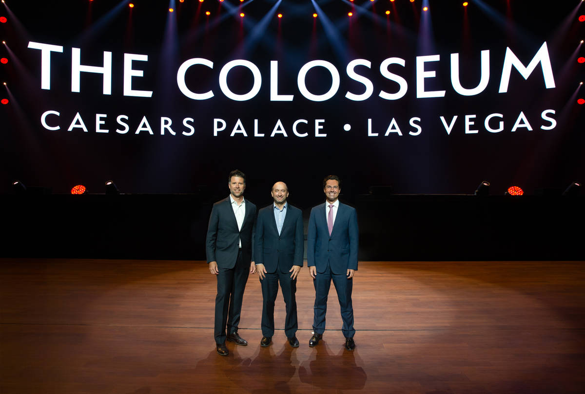 Top entertainment officials were on hand for the unveiling of the newly remodeled Colosseum at ...
