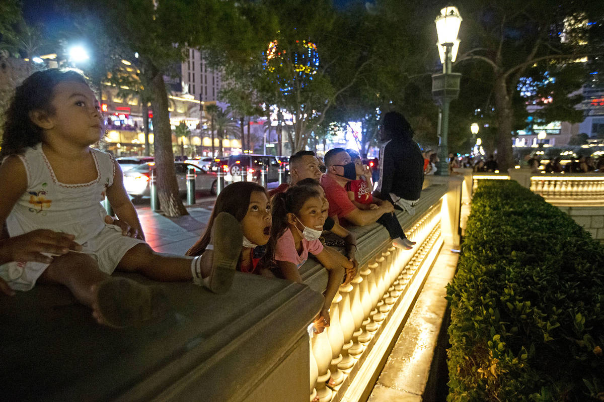 Mia Munguia, 3, left, Keytlin Munguia, 9, second from left, and Allison Mendia, 9, third from l ...