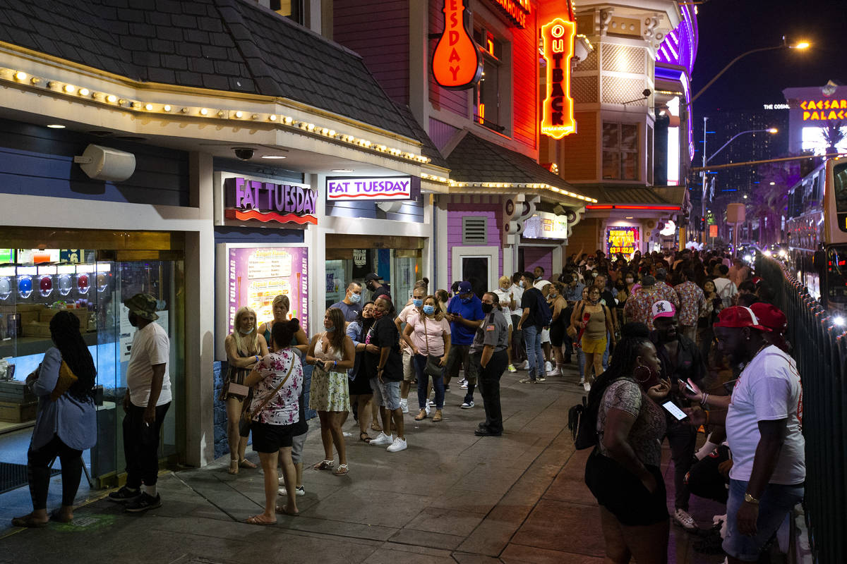 The line at Fat Tuesday extends past Casino Royale and almost to Harrah's during Labor Day week ...