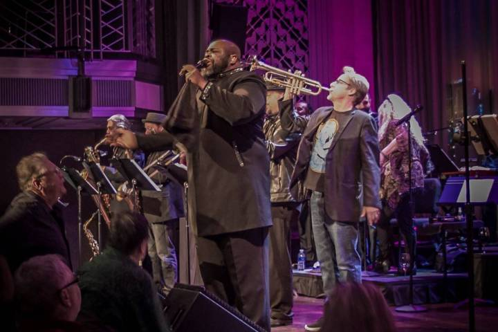 Bruce Williamson is shown performing with the Lon Bronson Band at Myron's Cabaret Jazz on Jan. ...