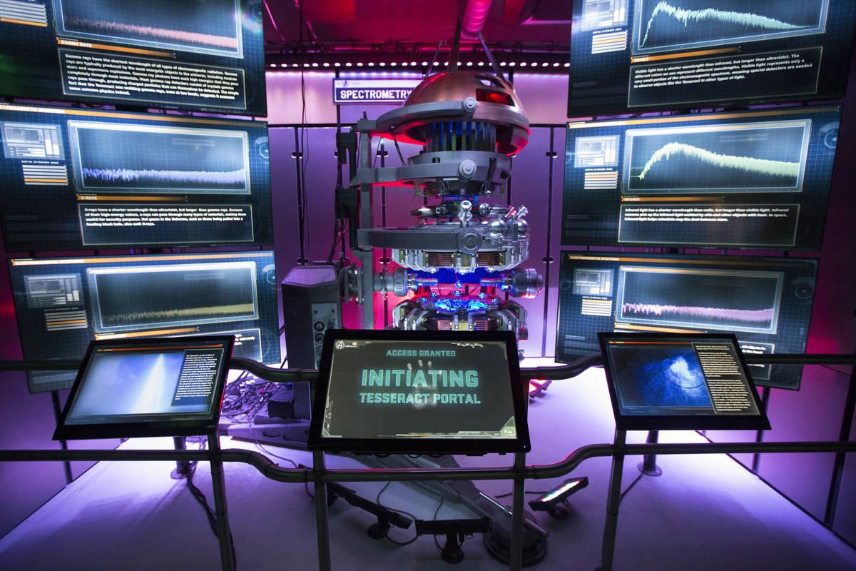 The Marvel's Avengers STATION inside the Treasure Island hotel-casino is seen on Friday, June 1 ...
