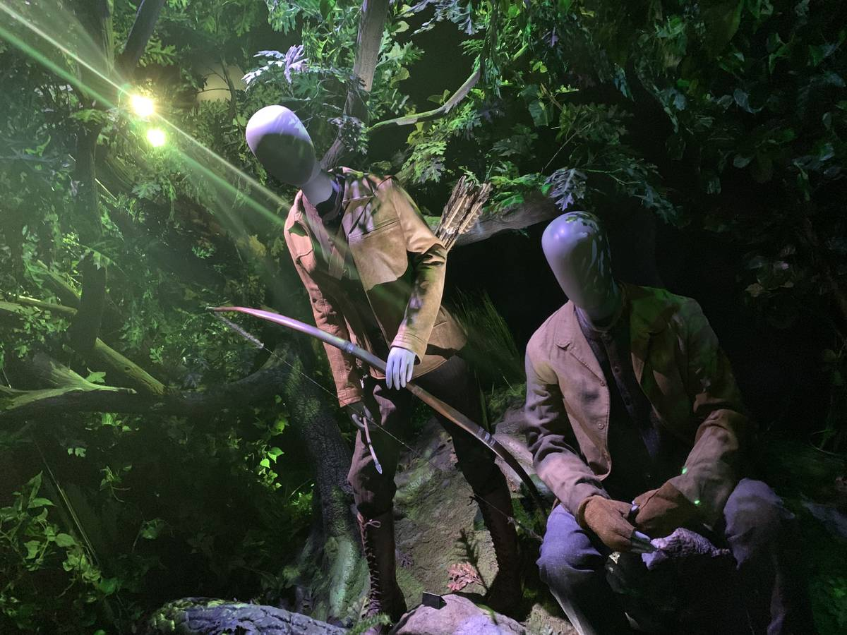 A train scene from of the Hunger Games Exhibition at the MGM Grand, on July 9, 2019. The exhibi ...