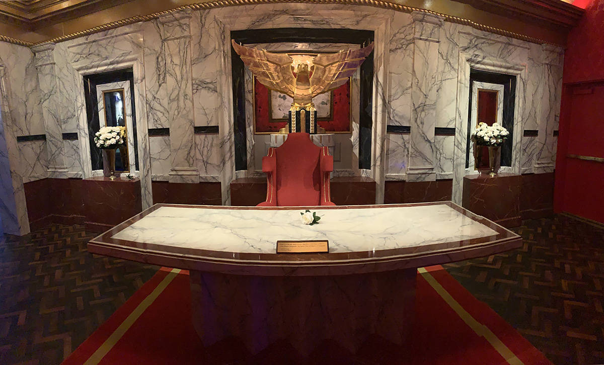 President Snow's office, is one of the displays that is part of the Hunger Games Exhibition at ...
