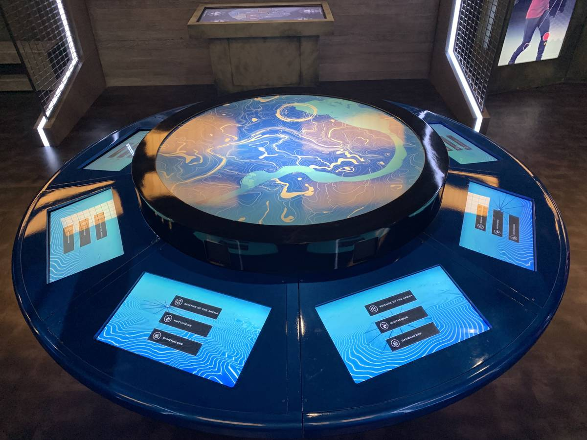 One of the displays in the Hunger Games Exhibition at the MGM Grand, on July 9, 2019. The exhib ...