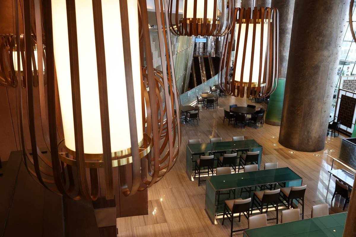 The dining room inside of the new Din Tai Fung restaurant at the Aria hotel-casino in Las Vegas ...