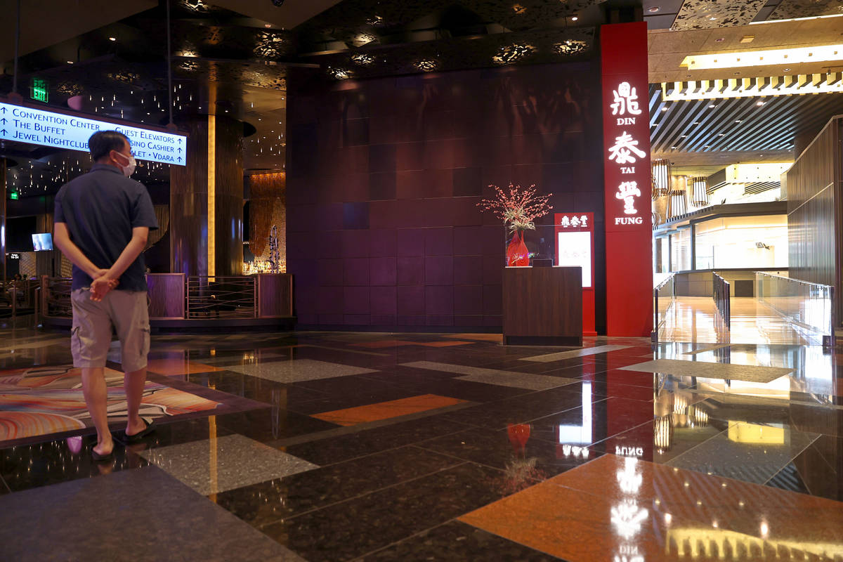 The new Din Tai Fung restaurant at the Aria hotel-casino in Las Vegas, Tuesday, Sept. 8, 2020. ...