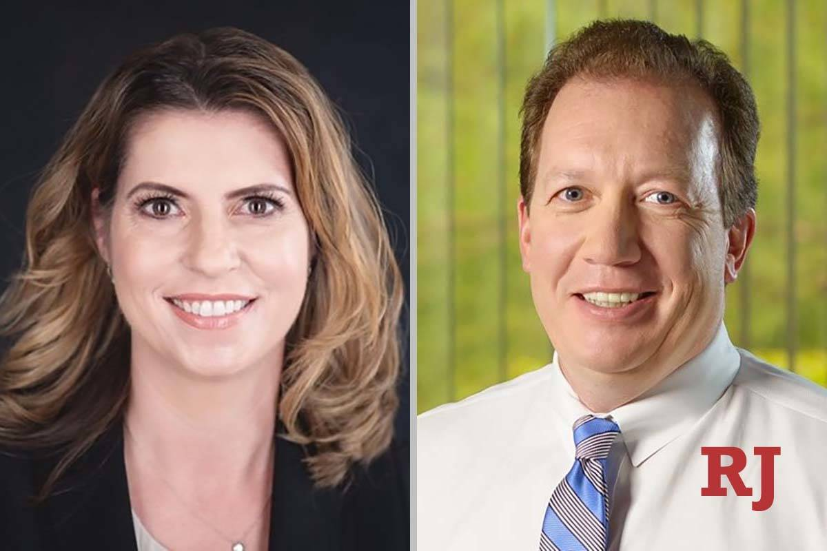 Veronica Barisich and Terry Coffing, candidates for District Court Department 5. (Facebook)