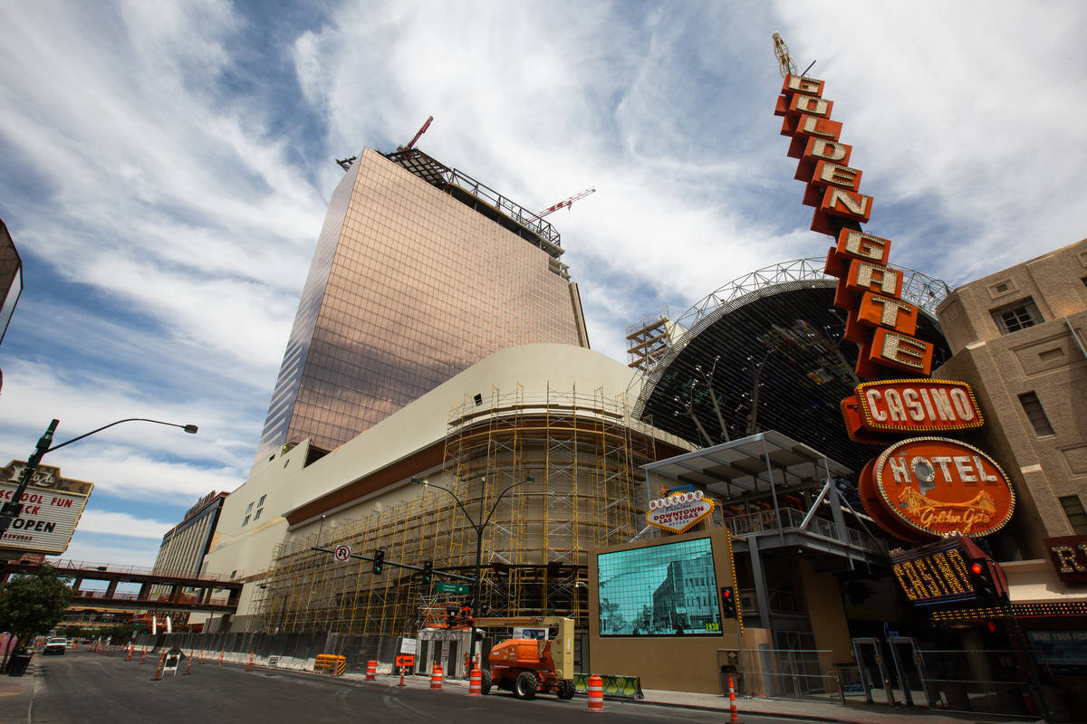 Circa under construction in Las Vegas, June 24,2020. (Chris Day/Las Vegas Review-Journal)