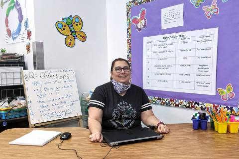 Shana Prue in her classroom at the Long STEAM Academy in east Las Vegas. (Shana Prue)