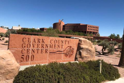 The Clark County Government Center in Las Vegas, on Wednesday, September 19, 2018. (Review-Jour ...