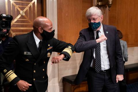 Surgeon General Jerome Adams and Dr. Francis Collins, Director of the National Institutes of He ...