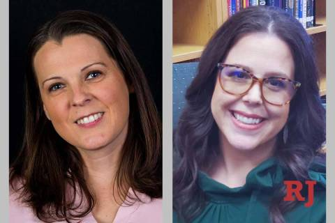 LolaBrooks, left, and AlexisSalt, candidates for District E, ClarkCountySchoolDistric ...