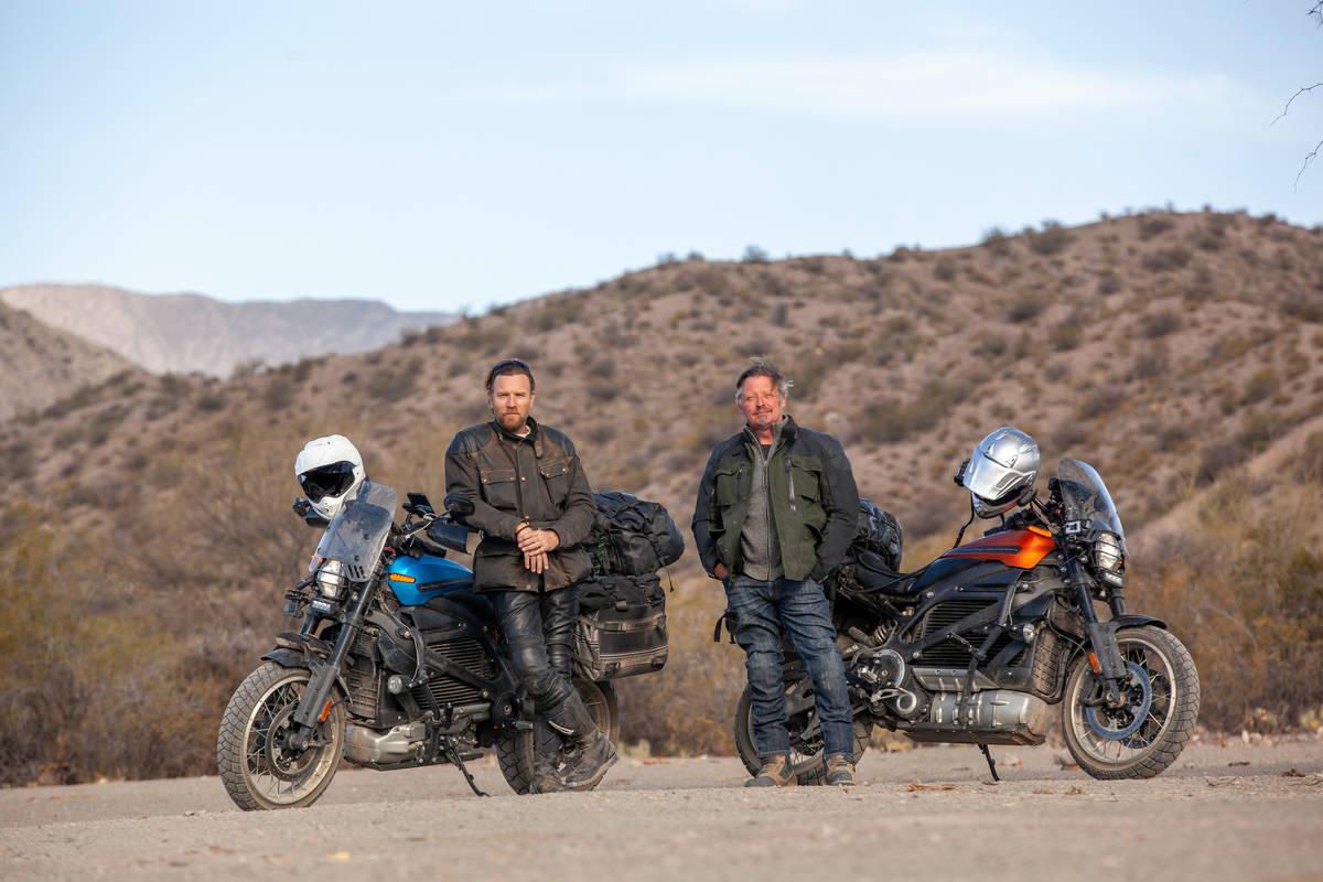 "Ewan McGregor, left, and Charley Boorman in ""Long Way Up."" (Apple TV+)"