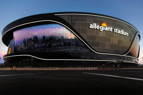 The Las Vegas Stadium Authority Board has a number of agreements tied to Allegiant Stadium up f ...