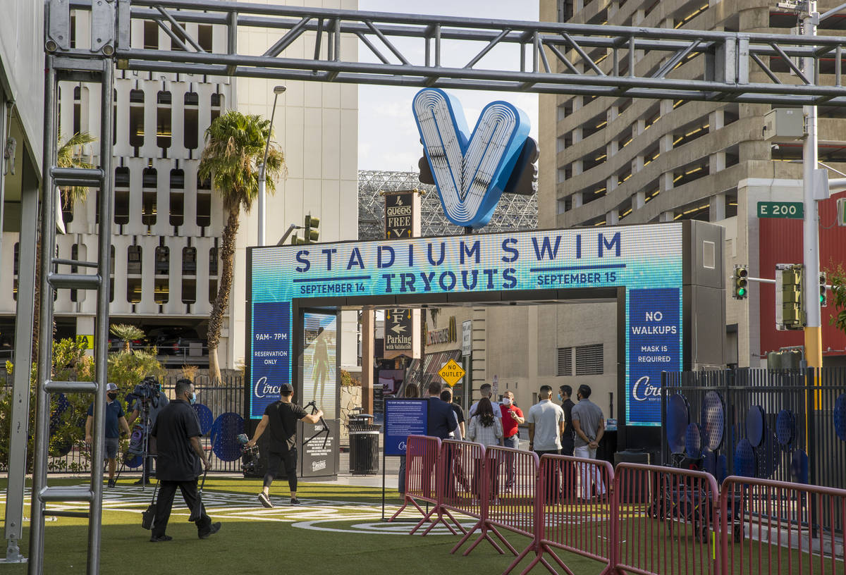 Circa's Stadium Swim hosts auditions for more than 100 jobs at the Downtown Las Vegas Events Ce ...