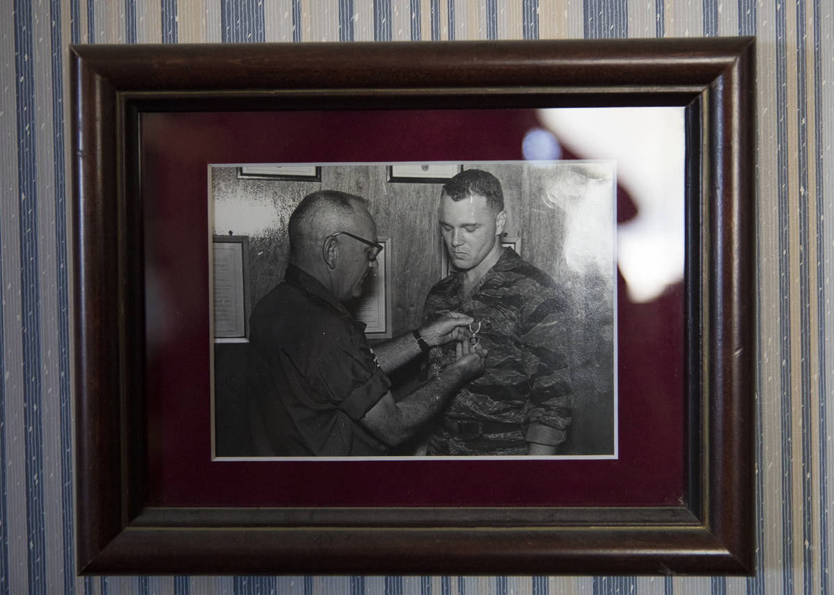 """A photo of a young James """"Bo"""" Gritz, a former U.S. Army Special Forces officer, right, bein ..."""