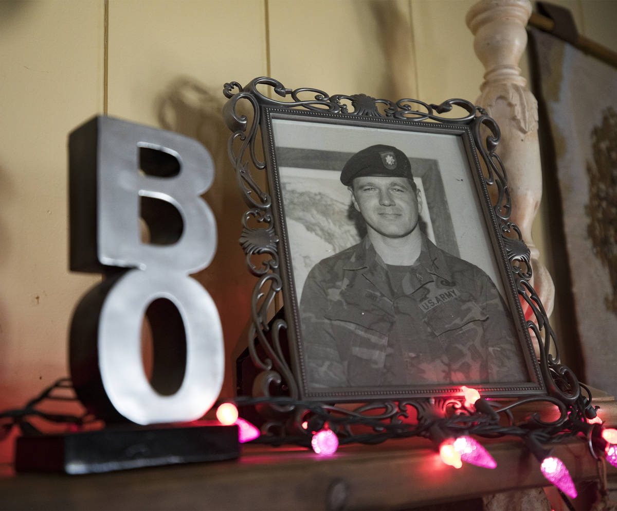 """A photo of a young James """"Bo"""" Gritz, a former U.S. Army Special Forces officer, at his home ..."""