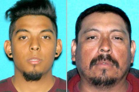 Erick Rangel-Ibarra, left, and Jose Rangel (Las Vegas Metropolitan Police Department)