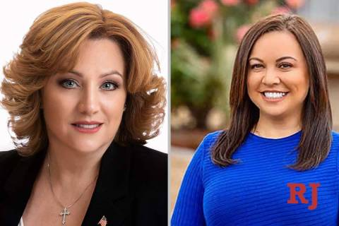 CherlynArrington, left, and ElaineMarzola, candidates for Nevada Assembly District ...