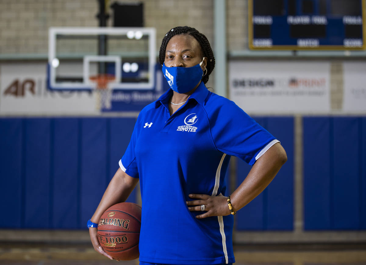 Dorothy Kendrick, head women's basketball coach at the College of Southern Nevada, on Wednesday ...