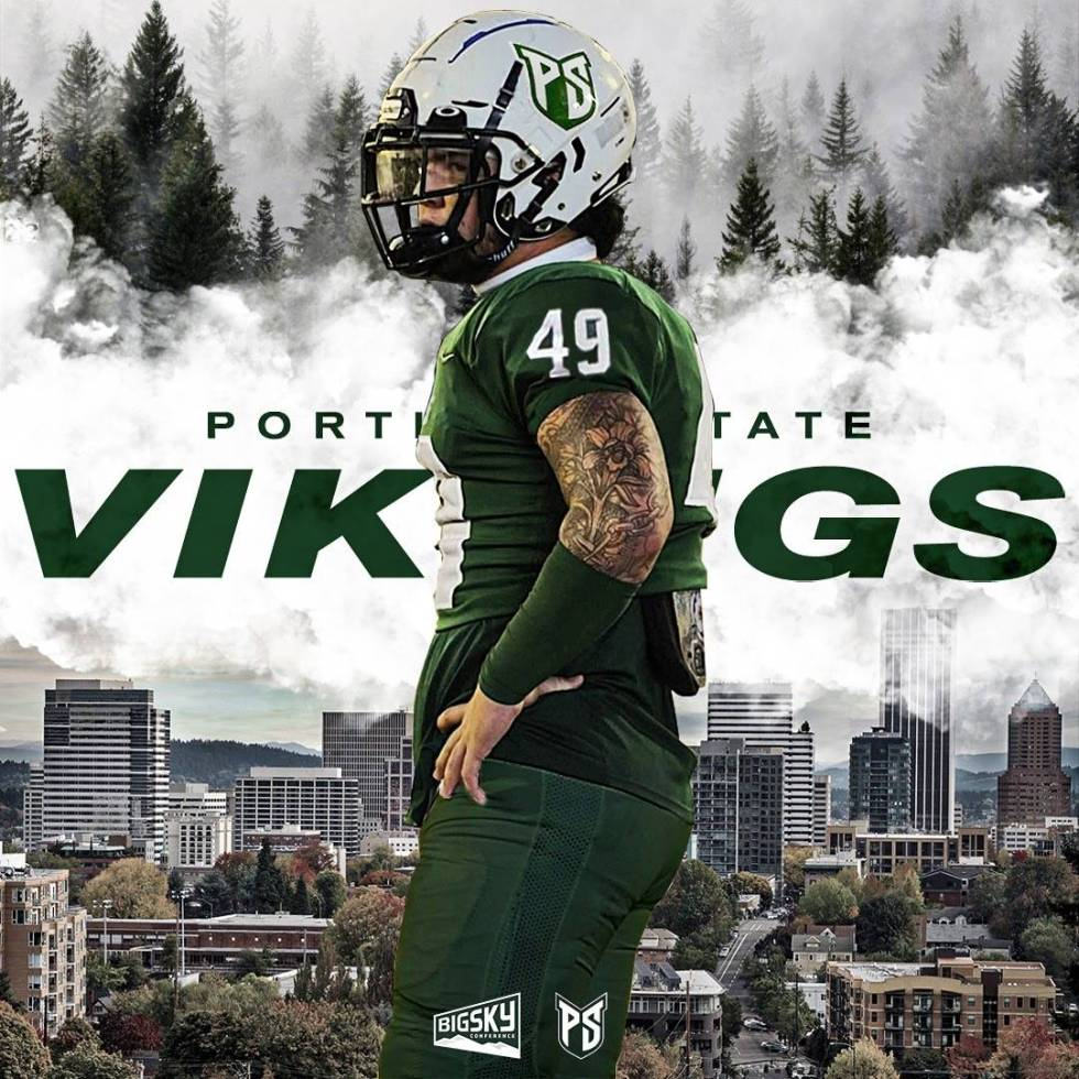 Zane Maningo, a defensive end from Green Valley, is awaiting his freshman season at Portland St ...