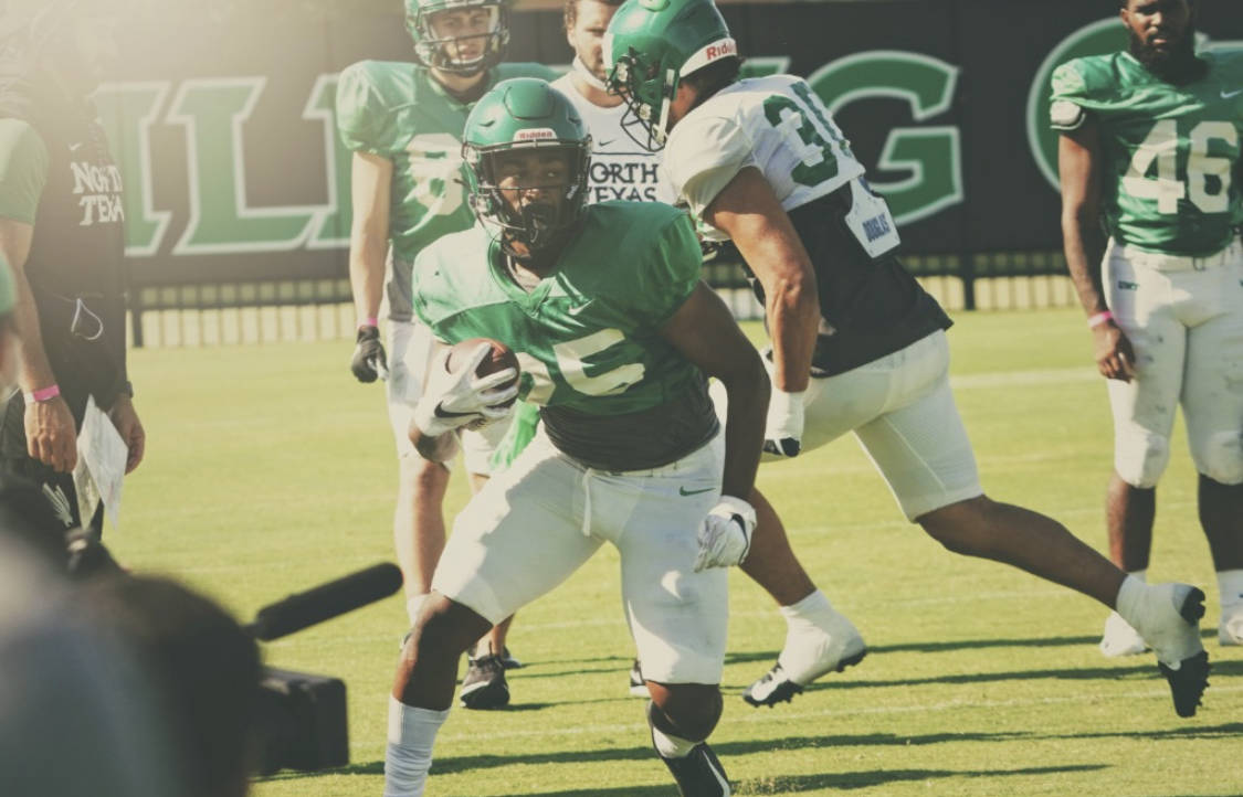 Ikaika Ragsdale, a running back from Bishop Gorman, and his North Texas team have played two ga ...