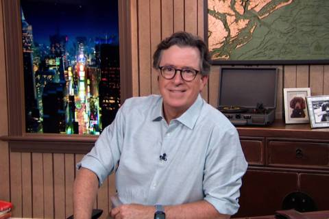 "Stephen Colbert hosts ""The Late Show With Stephen Colbert."" (CBS)"