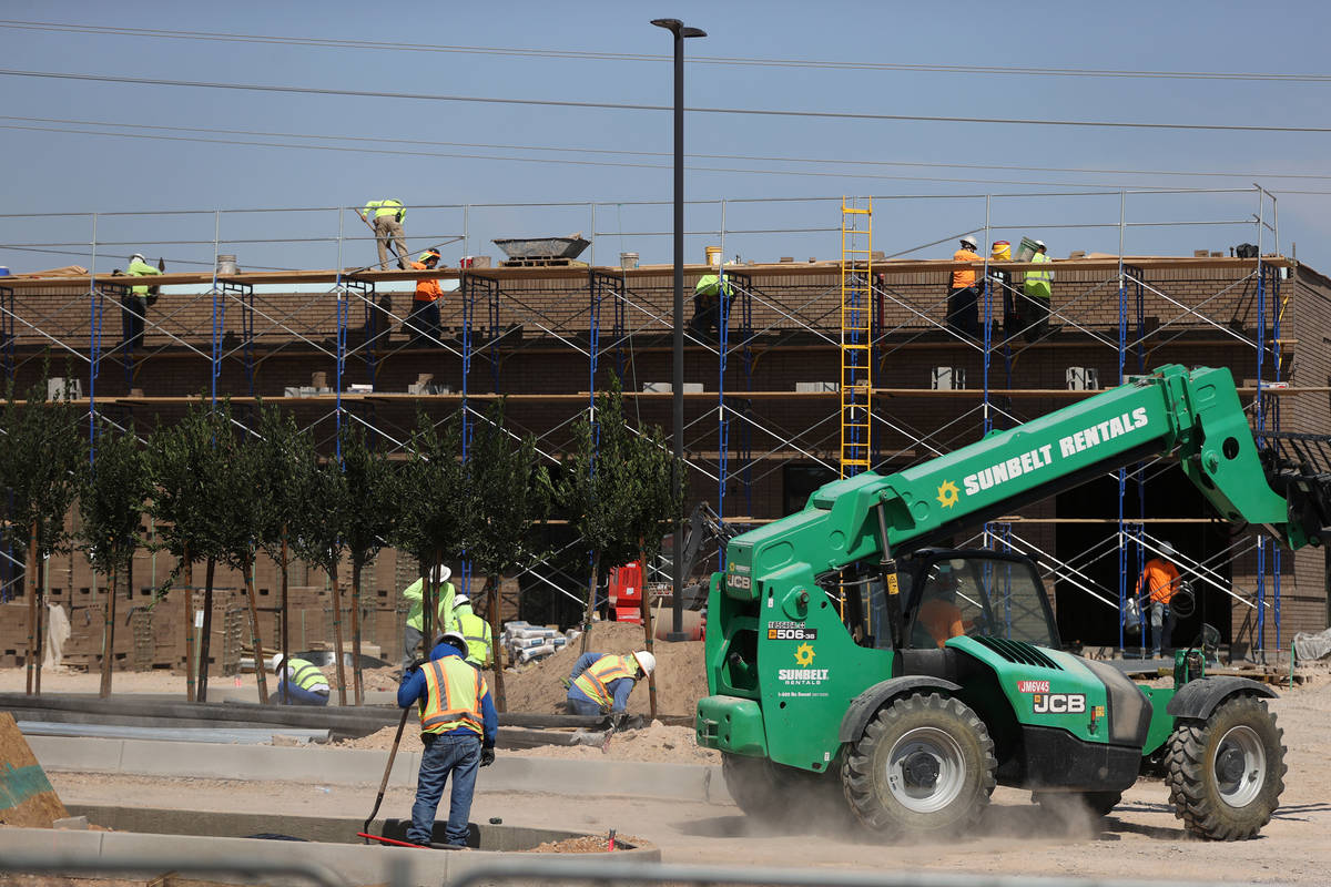 A Chick-fil-A restaurant under construction at the Crossroads Commons shopping center in Las Ve ...
