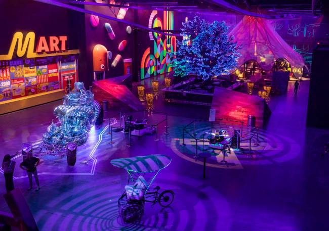Area15 days before the opening, is seen in Las Vegas on Monday, Sept. 14, 2020. (Elizabeth Page ...