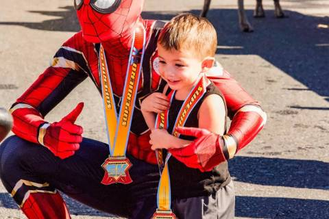 Spiderman will be one of the community superheroes supporting kids with cancer during the Candl ...