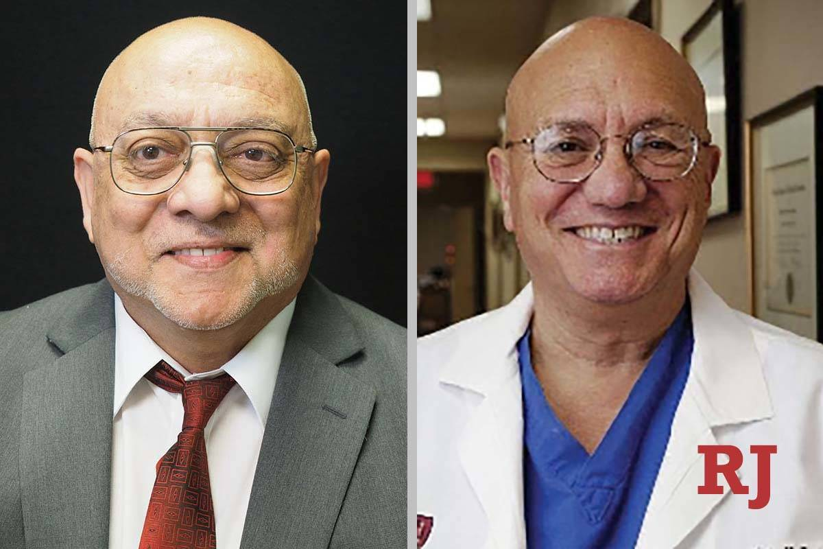 Patrick Boylan and Dr. Nick Spirtos, candidates for Board of Regents District 5 (Las Vegas Revi ...