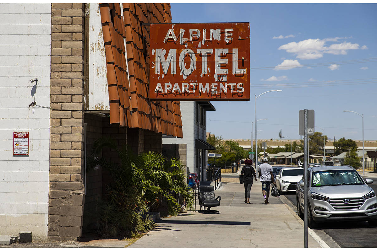 An exterior view of Alpine Motel Apartments, where six people died in a fire last December, in ...