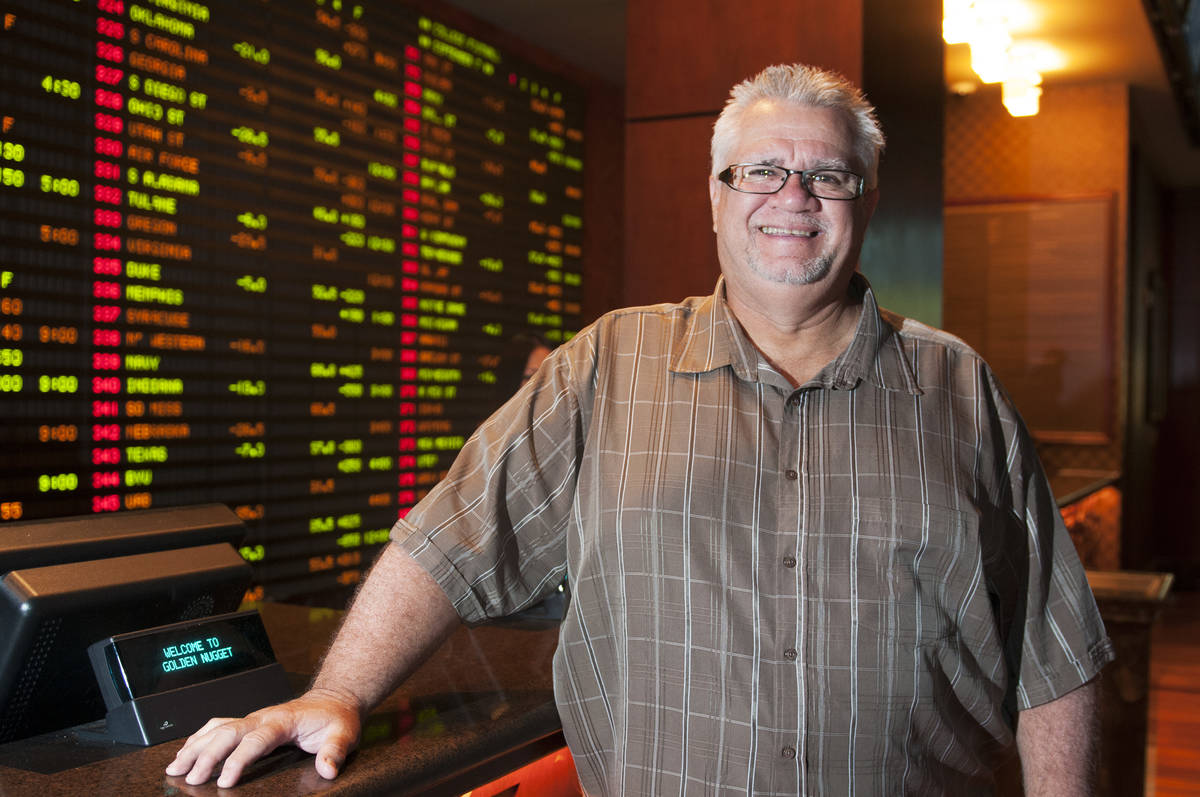 Tony Miller, sports book director at Golden Nugget Casino, poses for a photo on Thursday, Sept. ...